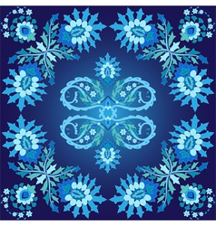 blue ottoman serial patterns five vector image