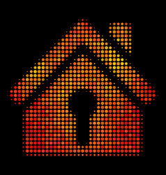 Bright pixel home keyhole icon vector