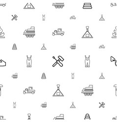 build icons pattern seamless white background vector image
