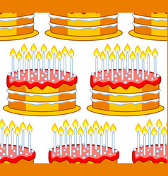 cake icon pattern vector image