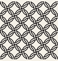 chain seamless pattern stylish interweaving vector image