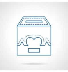 Charity box flat line icon vector image