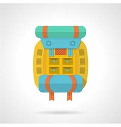 Colored backpack flat icon vector