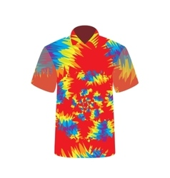 Colorful T-shirt depicting abstract psychedelic vector image
