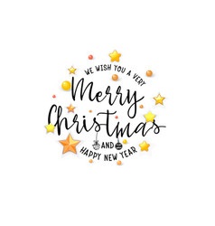 congratulations merry christmas banner for cards vector image