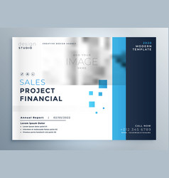 Creative business blue brochure cover template vector