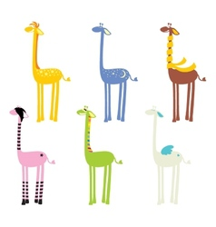 Cute giraffe seamless vector