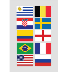 flags for international world championship vector image