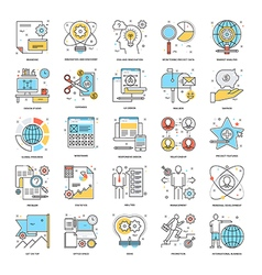 Flat Color Line Icons 6 vector image