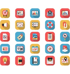 Flat SEO and Web Icons Set vector image