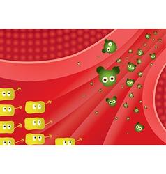 Flu battle front vector image