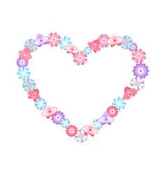 Frame made flowers floral decoration vector