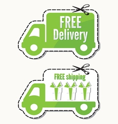 Free delivery free shipping labels vector image