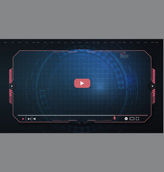futuristic desktop video player modern digital vector image