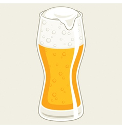 Glass beer vector