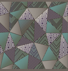 green color cloth triangles seamless pattern vector image