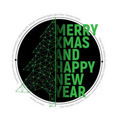 green polygonal christmas tree with text vector image