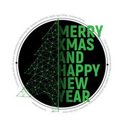 green polygonal christmas tree with text vector image