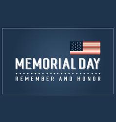 Happy memorial day art vector