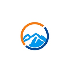high mountain icon abstract travel logo vector image