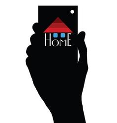 Home in hand vector