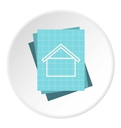 House project icon flat style vector