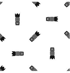 Interchangeable lens for camera pattern seamless vector