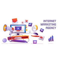 Internet marketing agency banner digital business vector