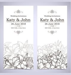 invitation to wedding vector image