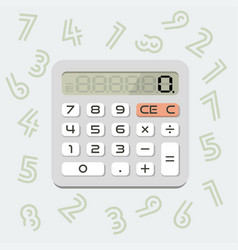isolated calculator in flat style vector image