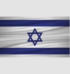 Israel flag flag of israel blowig in the wind vector
