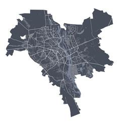 Kyiv kiev map detailed map kyiv kiev city vector