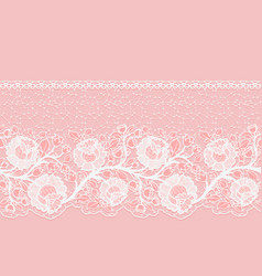 lacy horizontal seamless single-sided ribbon with vector image