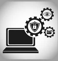 laptop security protection information vector image