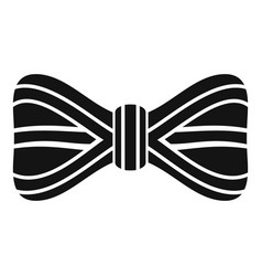 line bow tie icon simple style vector image