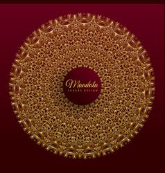 Luxury mandala banner design vector