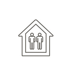 mans in a house icon simple element from map and vector image