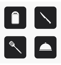 modern kitchen appliances icons set vector image