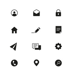 modern web icons pack base set icons for site vector image