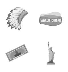 Mohavk world cinema dollar a statue of liberty vector