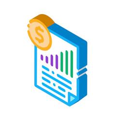 Monetary statement document isometric icon vector