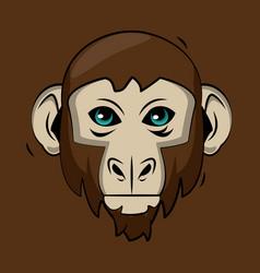 monkey cartoon print for t shirt vector image