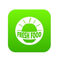new fresh food icon green vector image