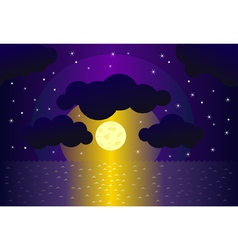 night and water background vector image