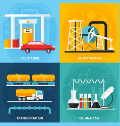 oil gas industry compositions vector image vector image
