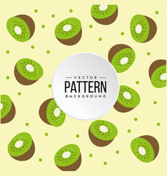 pattern kiwi yellow color background image vector image
