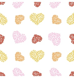 pattern of bubble hearts vector image