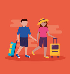 people and travel flat design vector image
