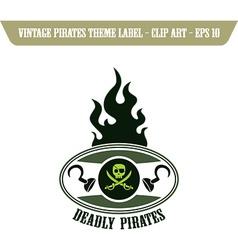Pirate design elements vector image