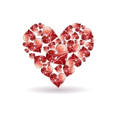 Red love hearts background vector
